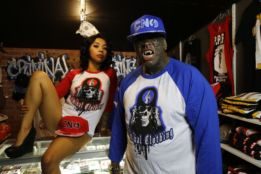Criminal Clothing Baseball Shirts Available in (Red and Blue) CNO Bandana Print Hats