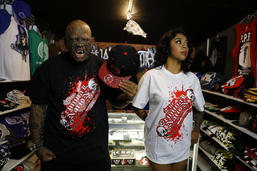 CNO Blood Splatter Shirt and CNO Ostrich Skin Hat